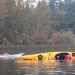 Practicing Balance Brace at Lake Padden
