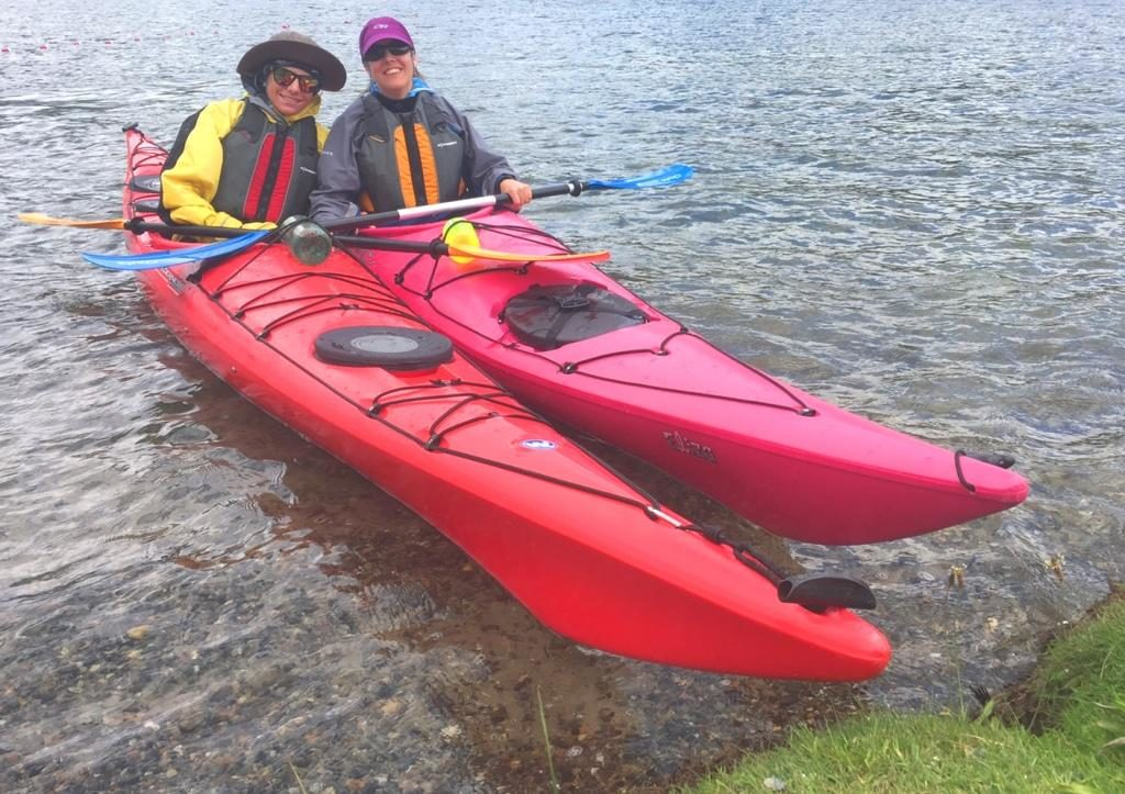Mother and Son Enjoying a Sea Kayak